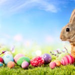 Easter Rabbit, Basket, Eggs